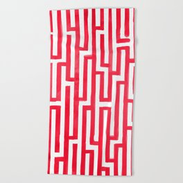 Enter the labyrinth Beach Towel