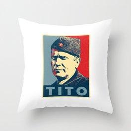 Josip Broz Tito Throw Pillow