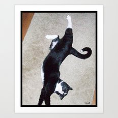 Big Stretch (More Kitty) Art Print