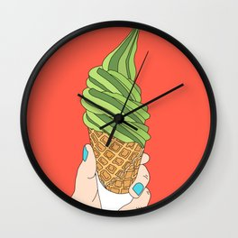 Matcha Ice Cream! Wall Clock