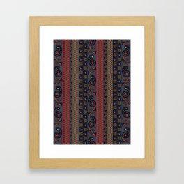 Henna pattern print - Adel Framed Art Print