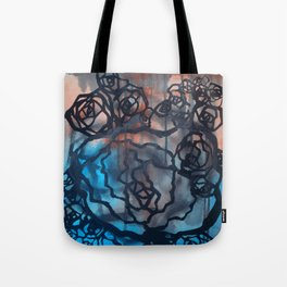 Brick and marine roses Tote Bag