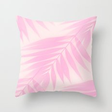 Palm Leaves in Pink Shades  Throw Pillow