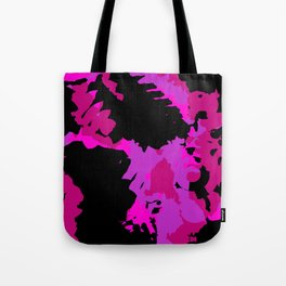 Fuchsia and black abstract Tote Bag