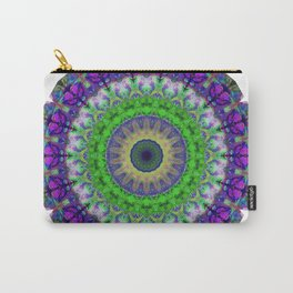 Green Light Mandala Art by Sharon Cummings Carry-All Pouch