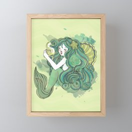 Mermaid Green Framed Mini Art Print