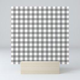 Plaid (gray/white) Mini Art Print