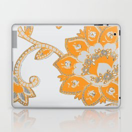 vintage paisley orange/grey Laptop & iPad Skin