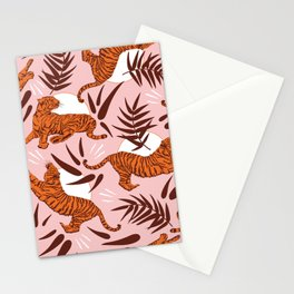 Vibrant Wilderness / Tigers on Pink Stationery Cards