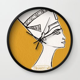Queen Nefertiti Wall Clock