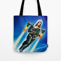 christ Tote Bags featuring Cosmic Christ by Saint Lepus