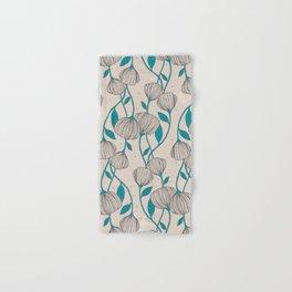 Blue Stem Flowers Hand & Bath Towel