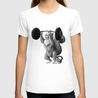 crossfit T-shirts featuring Crossfit Squirrel by The Elfin Artist