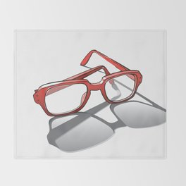 Eye Glasses Throw Blanket