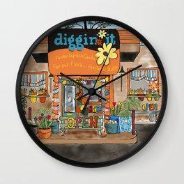 Diggin' it Mckinney, TX Wall Clock