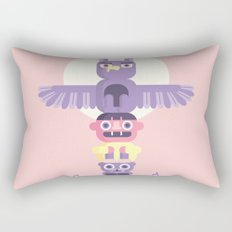 T is for Totem Pole Rectangular Pillow