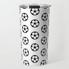 Simple Soccer Ball Motif Pattern Travel Mug