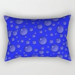 Water drops - Blue Rectangular Pillow