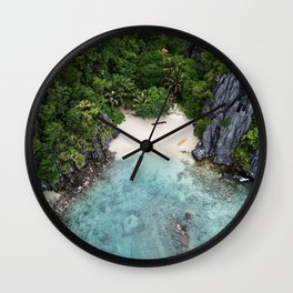 Isolated Beach Wall Clock