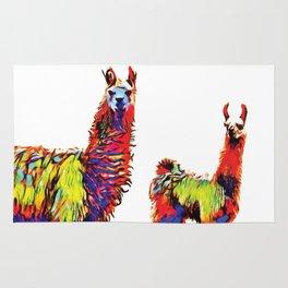 Electric Llamas Rug