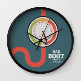 Das Boot, U-boot 96, alternative movie poster, minimal film playbill Wall Clock