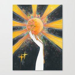 Hold onto your sun Canvas Print
