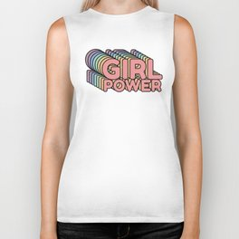 Girl Power grl pwr Retro Biker Tank