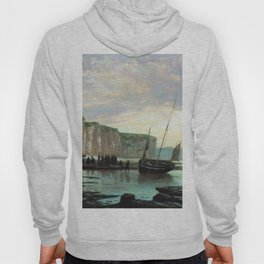 Normandy Beach 1859 By Lev Lagorio   Reproduction   Russian Romanticism Painter Hoody