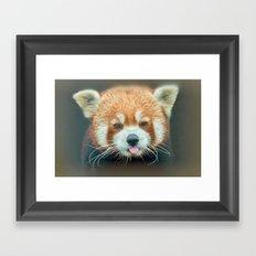 PANDA-RING TO ONE'S TASTE Framed Art Print