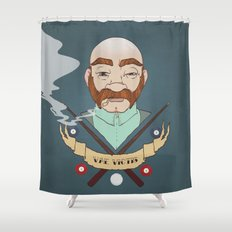 Billiard player Shower Curtain