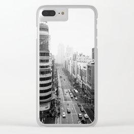 Gran Via in Madrid Clear iPhone Case