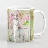 westie Mugs featuring  Westie Love ~ West Highland Terrier ~ Ginkelmier by Ginkelmier