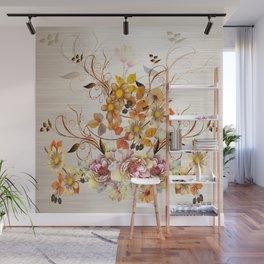 Fall Flower Centerpiece Wall Mural