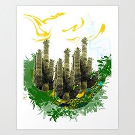 kaktusar Art Print