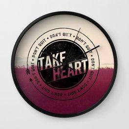 Take Heart Wall Clock