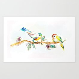 When Love Was Spring (on white) Art Print