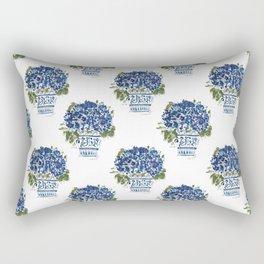 Hydrangea Chinoiserie Jenna Rectangular Pillow