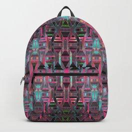 Geometric Wood Pattern G404 Backpack