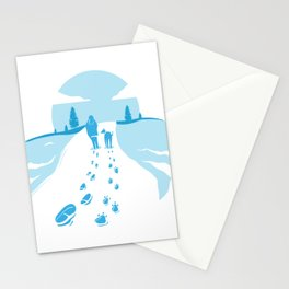Foodprint Snow Stationery Cards