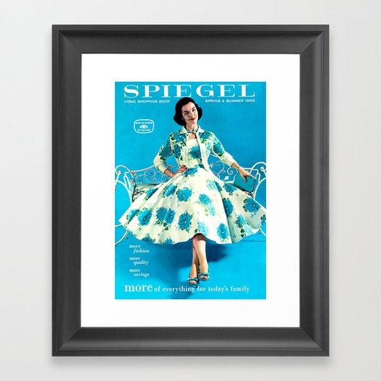 1958 Spring/Summer Spiegel Catalog Framed Art Print