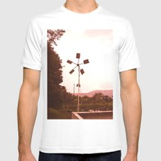 WIND MILL Mens Fitted Tee MEDIUM White