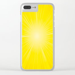 Yellow Radial Pattern. Starburst. Sunbeam. Sunray Clear iPhone Case