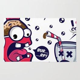 Red Cola Addict Rug