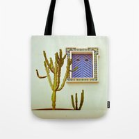 cactus Tote Bags featuring Cactus by Sébastien BOUVIER