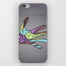 Doodle Hand (color) iPhone & iPod Skin