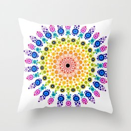 Rainbow Mandala 31218 Throw Pillow