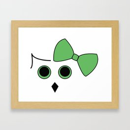 Owls and Bow No. 7 Framed Art Print