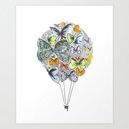 Bows & Butterflies Art Print