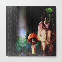 attack on totoroo Metal Print