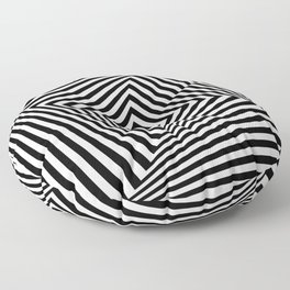 Op art rotating square in black and white Floor Pillow